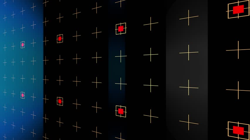 4K Abstract Animation Grid Glossy Background, Geometry Surfaces, Lines And  Points. Fantastic Futuristic