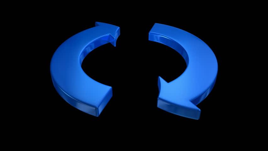 Arrow loop with matte   Shutterstock HD Video #2248567