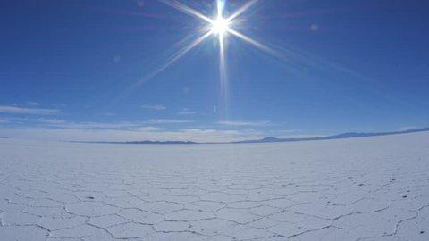 Bolivia, Potosi Department, Daniel Campos Province, View of the Salar de Uyuni, the largest salt flat in the world.