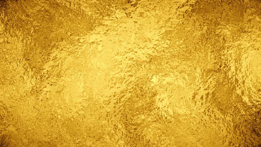 Yellow Grunge Texture Gold Foil Texture, Ani...