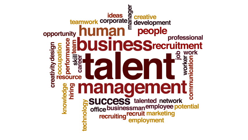 Talent animated word cloud.