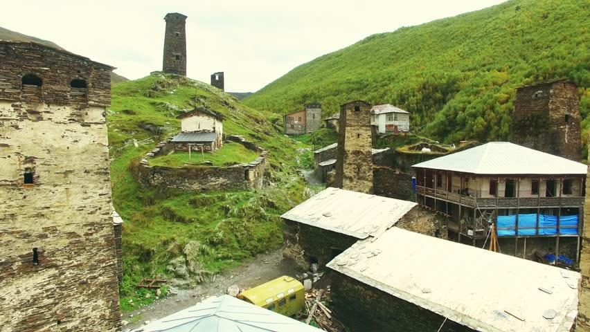 Old village in Svaneti Georgia