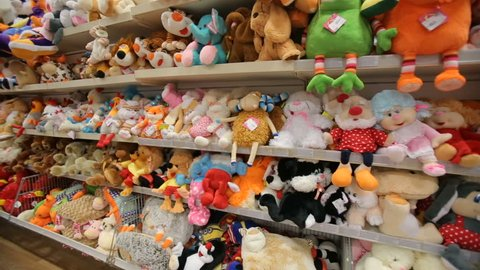 Stuffed toys in gift store