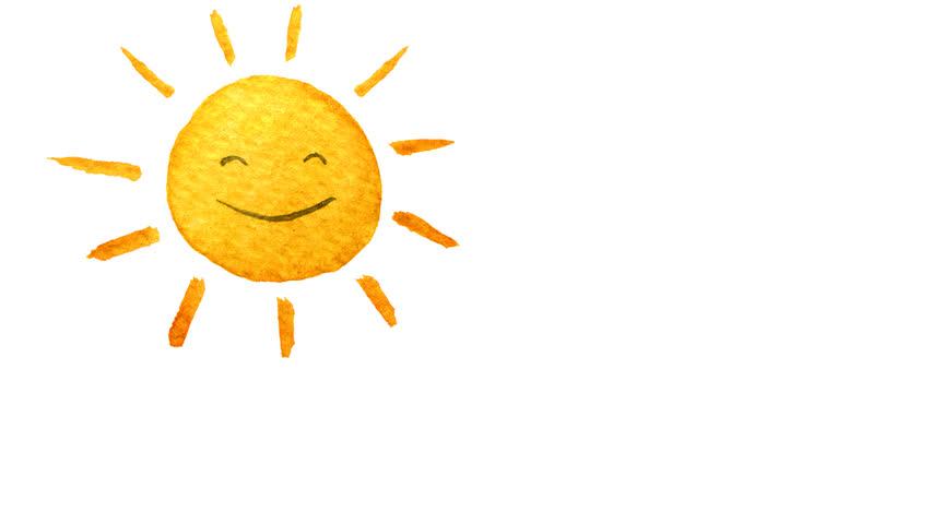 Cute Cartoon Sun Painted In Stock Footage Video 100 Royalty Free 22598071