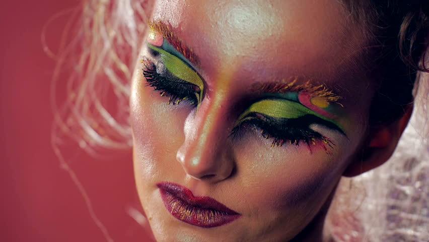 Face Art Beauty Makeup Beauty Stock Footage Video 100 Royalty Free 22634341 Shutterstock