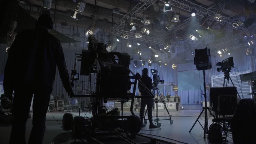 KYIV, UKRAINE – APRIL 13, 2016. The backstage of the shooting of live broadcast