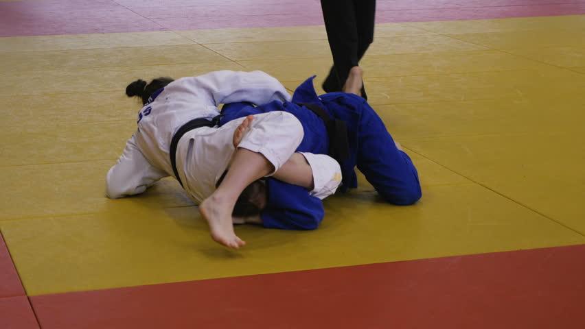 Header of judoka