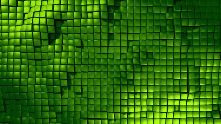 Cubic Dynamic Movement Undulate Green Animated Background