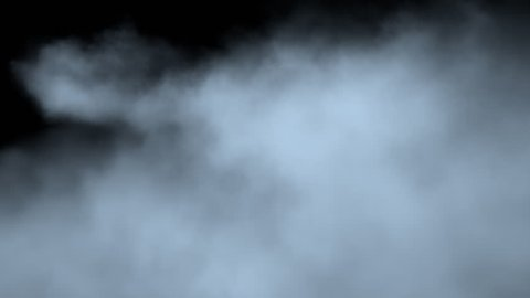 Passage through the fog/steam/smoke isolated on black with alpha channel. Production quality footage for digital compositing.