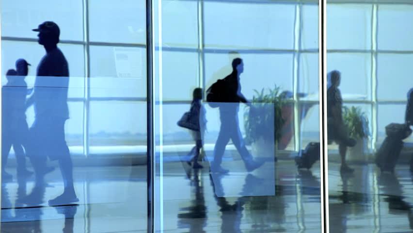 People walking in air terminal | Shutterstock HD Video #2269544