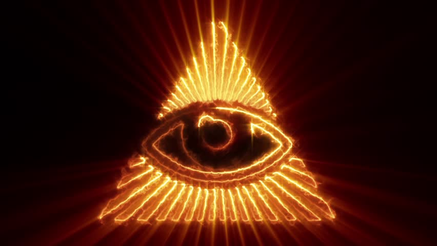 The Eye Of Providence Loop Stock Footage Video 100 Royalty Free