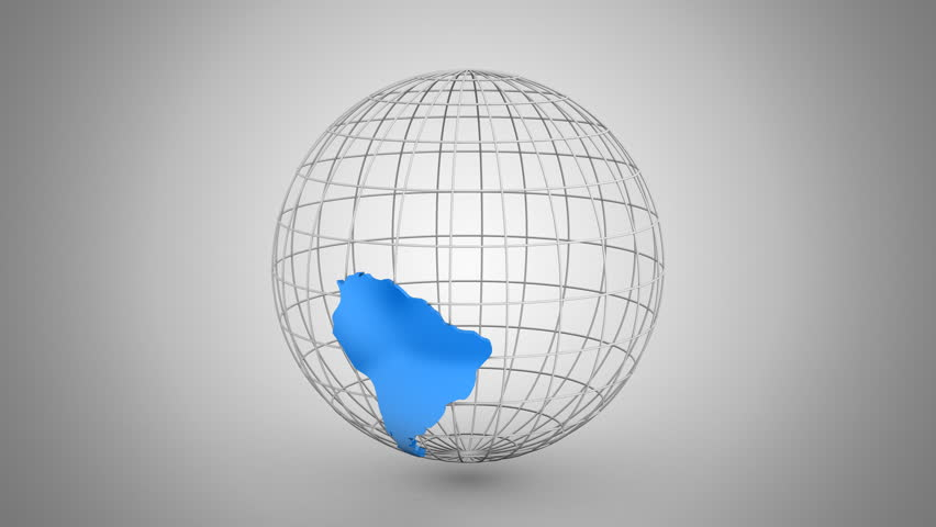 Creating a Rotating Globe. Gray background, 2 in 1, loop (301-600 frames), created in 4K, alpha matte, 3d animation   Shutterstock HD Video #22738291