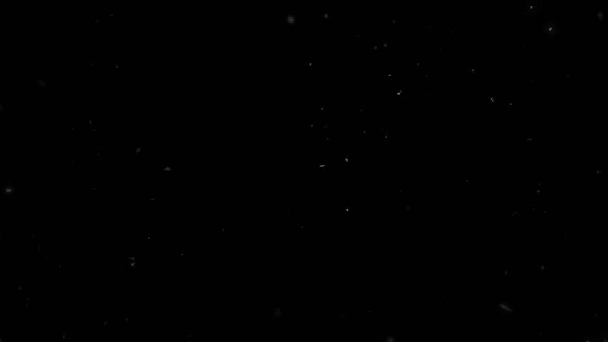 High quality motion animation representing snow falling, animated on a black background. | Shutterstock HD Video #22745971
