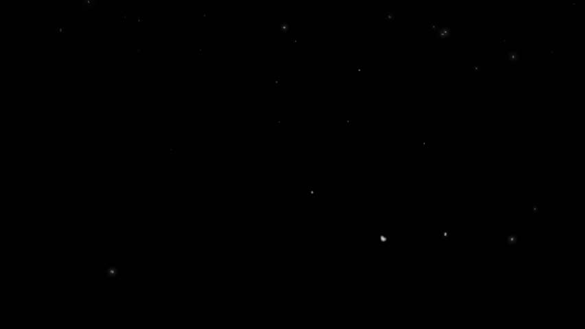 High quality motion animation representing snow falling, animated on a black background. | Shutterstock HD Video #22746451