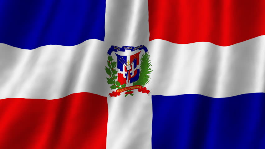 looping flag dominican republic stock footage video 22751