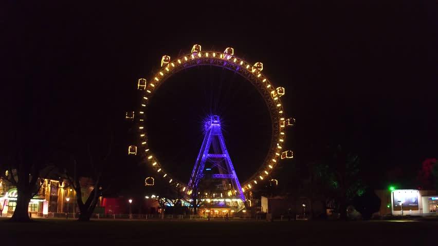 Famous Prater Wiener Riesenrad Ferris Stockvideos Filmmaterial
