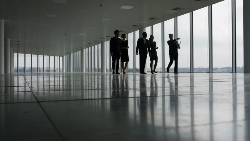 4K Business team viewing empty commercial property & shaking hands with agents Dec 2016-UK | Shutterstock HD Video #22829050