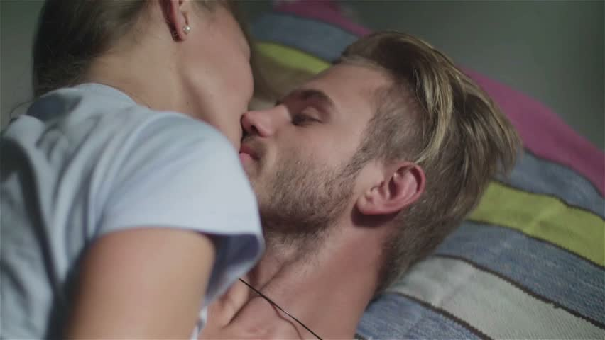 man and woman love in bed video