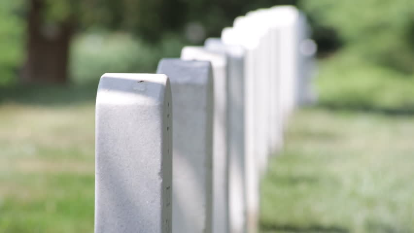 Headstones and graves at the Arlington National Cemetery
