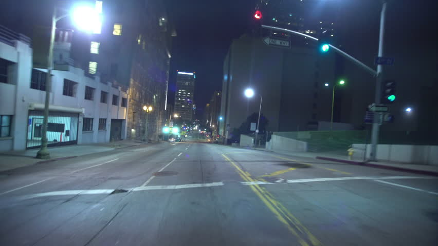 Driving Plates Tunnels Night 04 Rear View LA Downtown Grand Ave Tunnel | Shutterstock HD Video #22885351