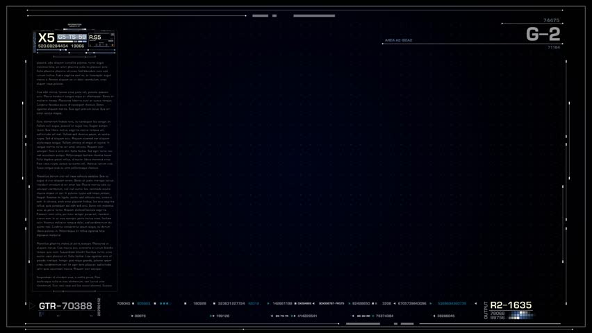Transparent Hud Frame Footage Stock Clips