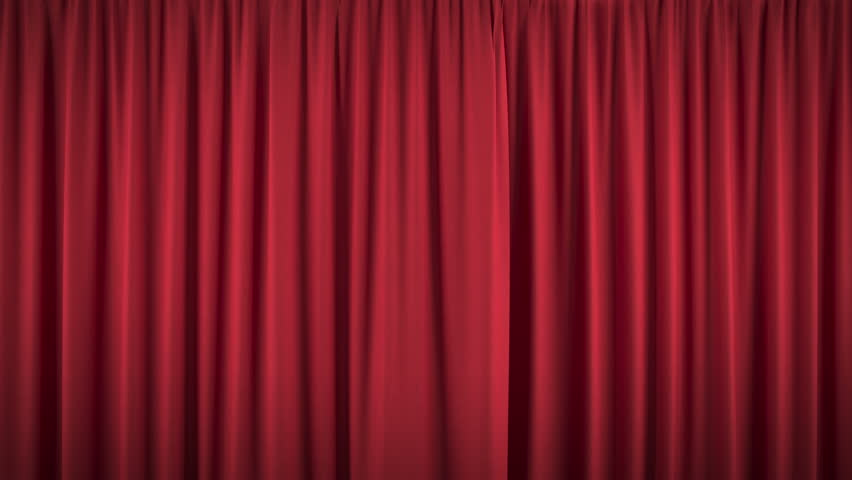 Beautiful opening and closing red curtain, with alpha mask, ready for compositing (4k, 3840x2160, ultra high definition) high detailed cloth #22900501