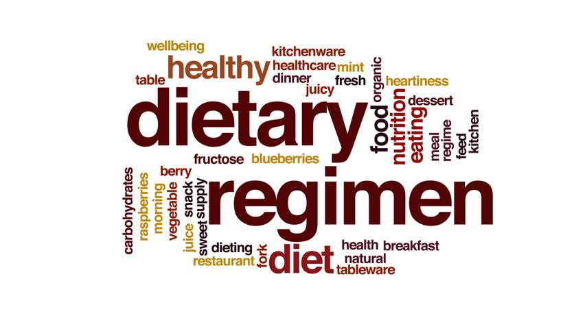 Dietary regimen animated word cloud.   Shutterstock HD Video #22902661