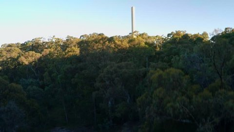 Australian coal electricity generation, greenhouse gasses, aerial track in - Mount Piper Power Station, Australia
