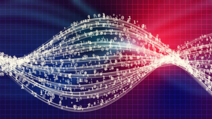 Waves of data flow (Loop) | Shutterstock HD Video #22921981