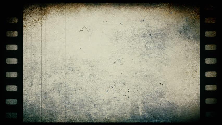 Gray Old Grunge  Film Background -   Video Loop Footage