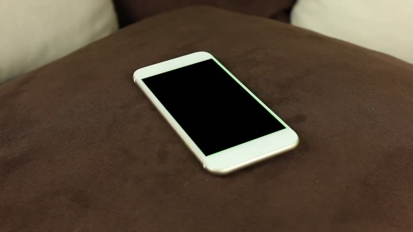 White Phone Without Any Buttons Stock Footage Video 100 Royalty