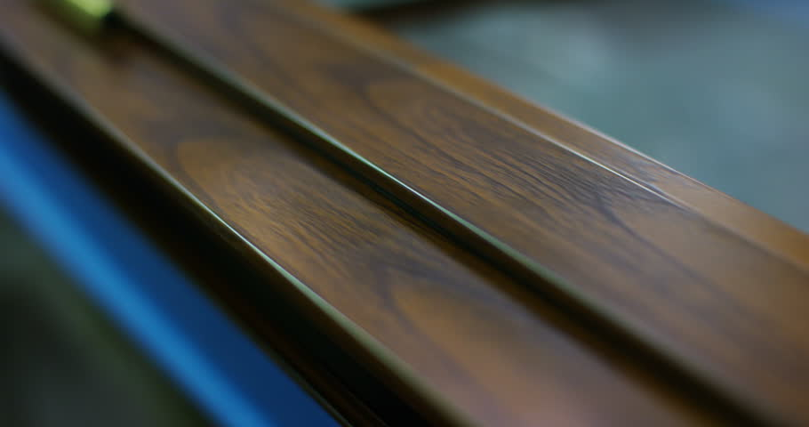 macro of a window frame,a door, window or blinds,with the details on the handles or on its hinges,the frame can be wood,aluminum,with thermal insulation.Concept:construction,energy conservation,design #23039722