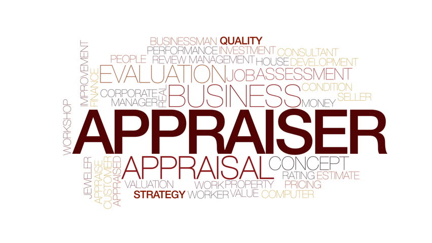 Appraiser animated word cloud. Kinetic typography.   Shutterstock HD Video #23071402