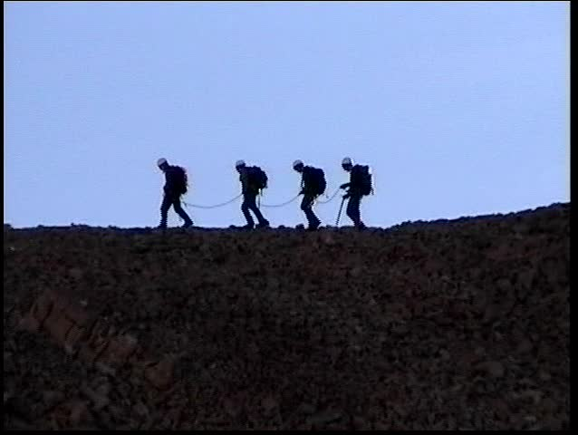 climbers on ridge close up (Digital8)