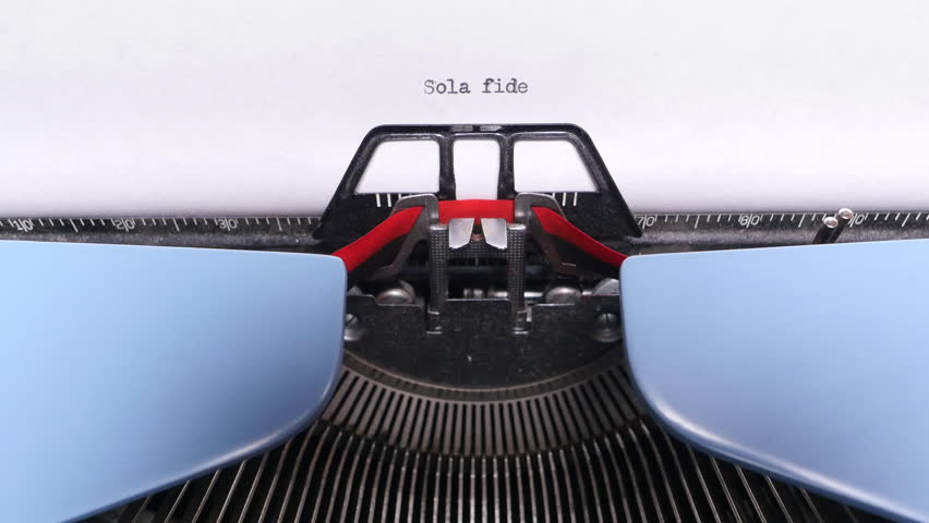 Sola Fide Typing Close Up on Retro Typewriter | Shutterstock HD Video #23177371