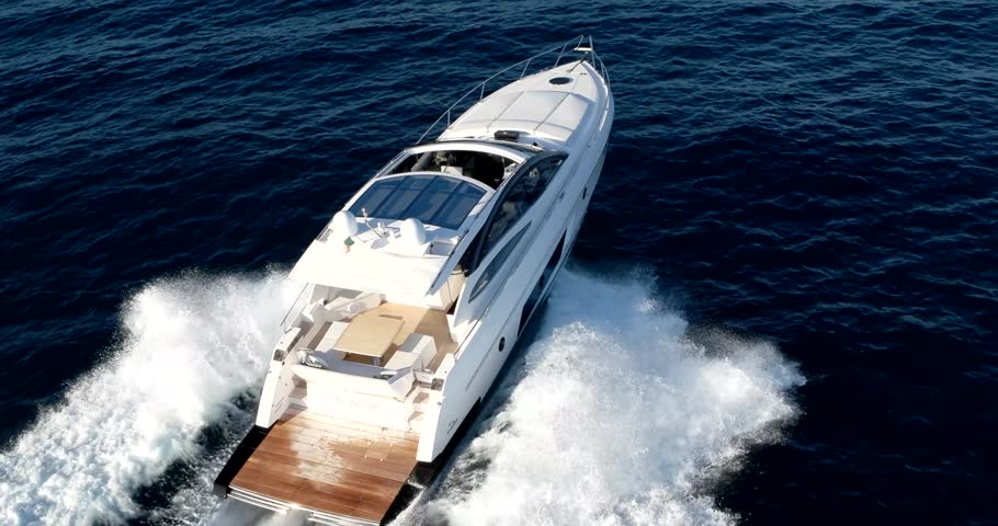 Luxury motorboat in navigation