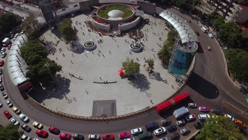 Glorieta de Insurgentes Aerial Shot, Mexico City