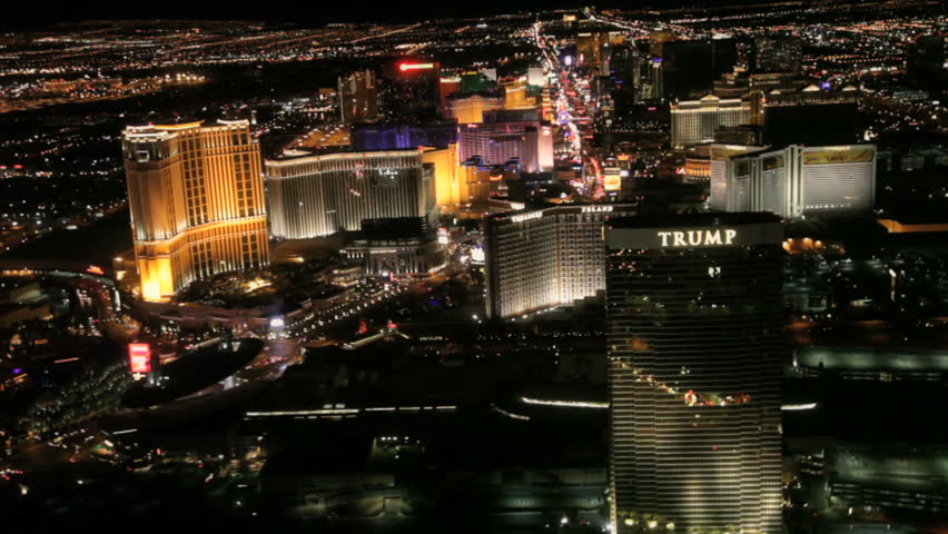 Las Vegas - Circa 2010. The Vegas strip in 2010. View of the Las Vegas strip at night in Las Vegas, California. | Shutterstock HD Video #2325281
