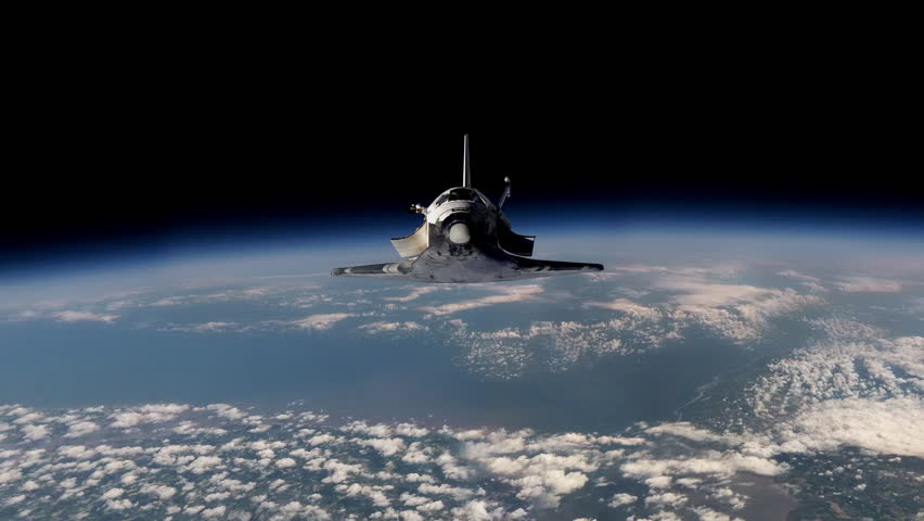 Space Shuttle Payload Bay Doors Opens Stock Footage Video ...