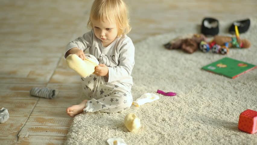 Little Girl Feet Stock Footage Video  Shutterstock-8415