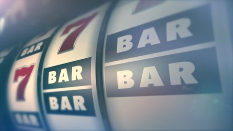 Las Vegas Style One Armed Bandit Classic Slot Machine Winning Spin 3D Animation. Classic Slots Machine.