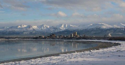 Anchorage Alaska Skyline Time Lapse