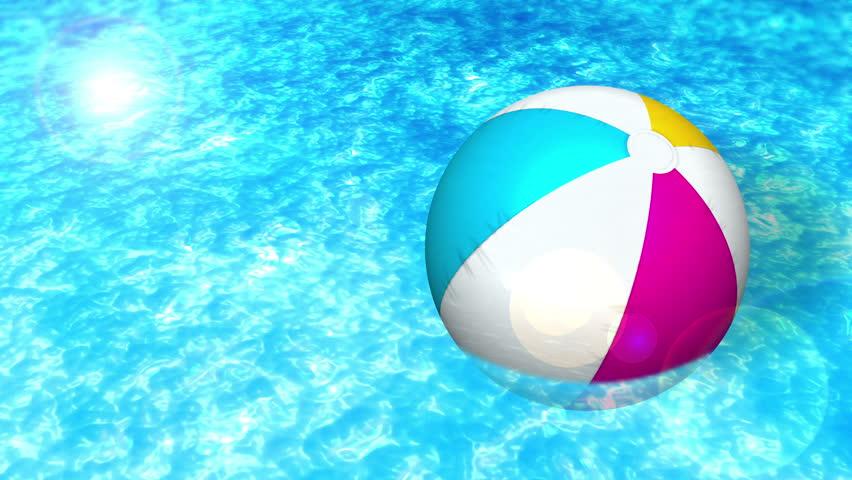 beach ball on beach. Swim In A Swimming Pool, Beach Ball, Loop Stock Footage Video 23461831 | Shutterstock Ball On