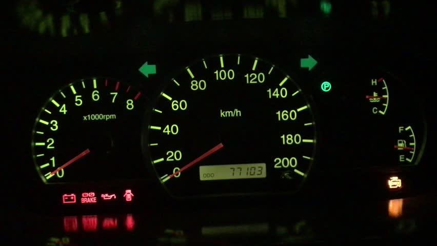 Dashboard Of A Car With Hazard Lights Blinking Stock Footage - Car image sign of dashboardcar dashboard icons stock photospictures royalty free car