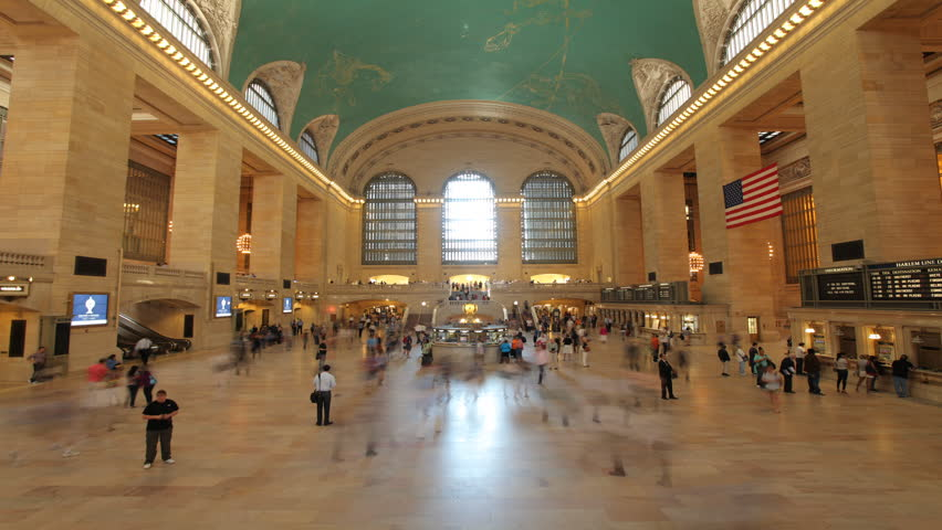 NEW YORK- CIRCA May, 2012: Grand Central Station Timelapse 30P
