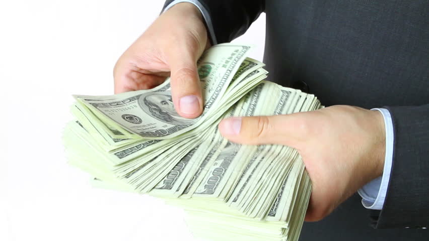Businessman holding money in hands. #2350181