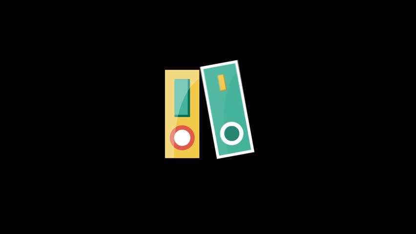 Folders Flat Icon   Shutterstock HD Video #23502301