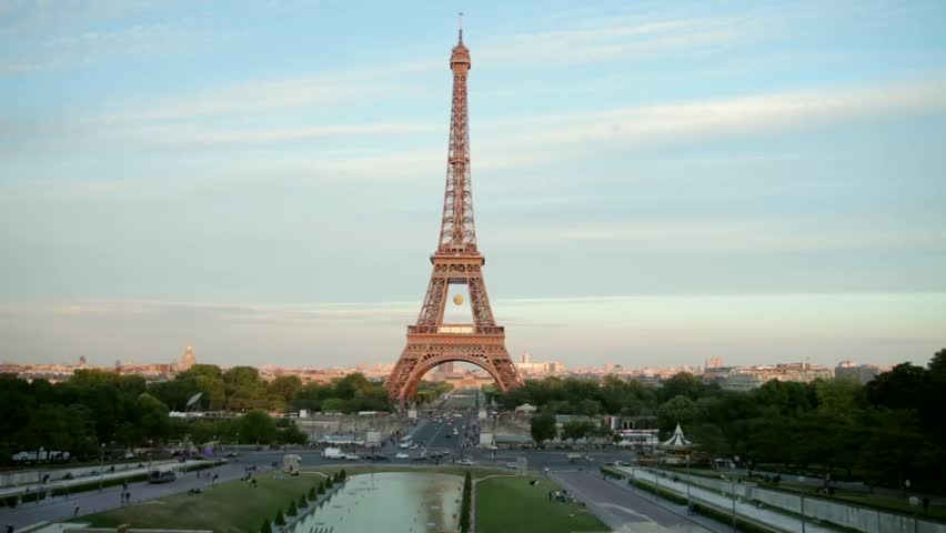 FRANCE, PARIS: Eiffel Tower at sunset, time-lapse | Shutterstock HD Video #23524855