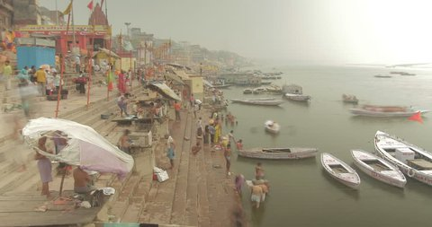 Time lapse of everyday life in Varanasi, India.
