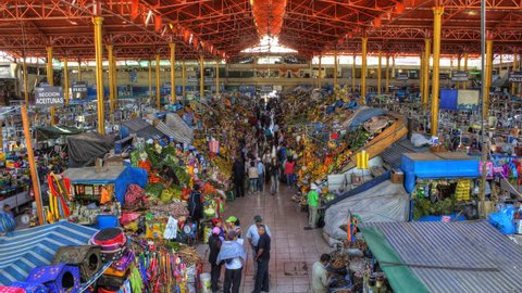 Arequipa market HDR time-lapse